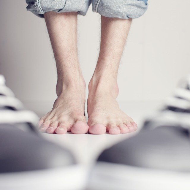your feet and your brain
